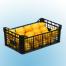 plastic crate 500x300x220 mm inter construction