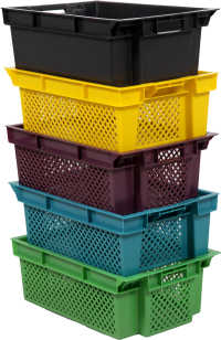 plastic crates 600x400x200 mm