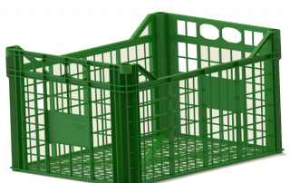 plastic crate 400x300x220 inter construction гајба greeen
