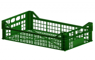 plastic crate 500x300x100 inter construction гајба green