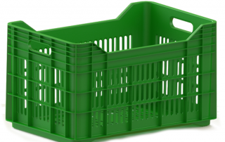 plastic crate 540x350x300 inter construction гајба green