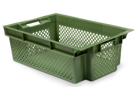 plastic crate box 600x400x200 itner construction гајба