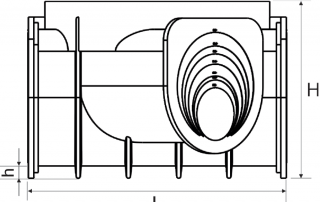 manhole шахта inter construction DN 1000 technical BS_1000_600_2x45 bot