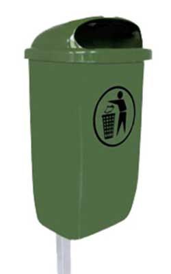 dust bin 50l green